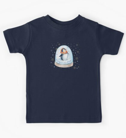 Penguin Snow Globe Kids Tee