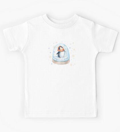 Penguin Snow Globe Kids Tee