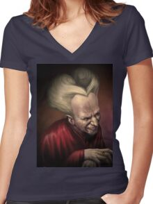Dracula Women's Fitted V-Neck T-Shirt