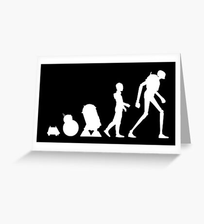 Droid Evolution Greeting Card
