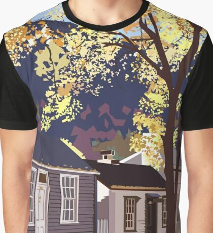 Historic Arrowtown in Autumn Graphic T-Shirt