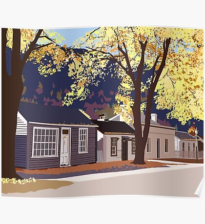 Historic Arrowtown in Autumn Poster