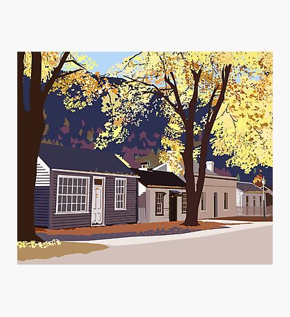 Historic Arrowtown in Autumn Photographic Print