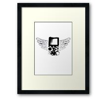 Winged Gameboy Framed Print