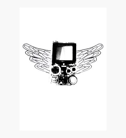 Winged Gameboy Photographic Print