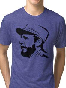 Fidel Castro in Black. Tri-blend T-Shirt