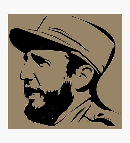 Fidel Castro in Black. Photographic Print