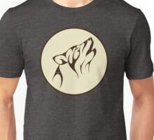 Howling Wolf Lovers Fool Moon Drawing Unisex T-Shirt