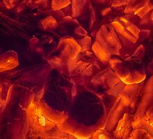 Red hot coals by bawanch