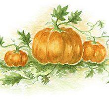 Three pumpkins by KsanaG