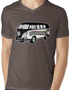 Duchovniacs Bus - David Duchovny Fan Squad Mens V-Neck T-Shirt