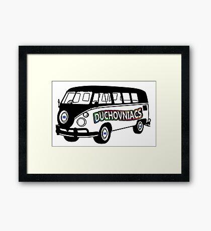 Duchovniacs Bus - David Duchovny Fan Squad Framed Print