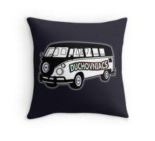 Duchovniacs Bus - David Duchovny Fan Squad Throw Pillow