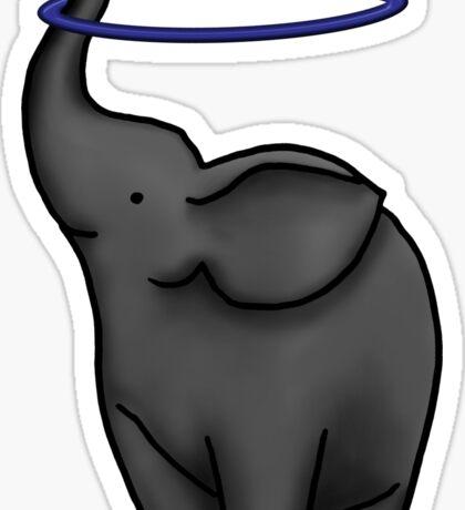 Elephant Truck Hooping  Sticker