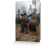 Forestry feller buncher  2 Greeting Card