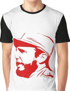 Fidel Castro in red. Graphic T-Shirt