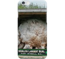 Worlds Largest Burl iPhone Case/Skin