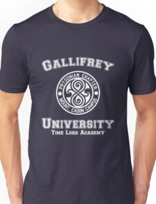 Gallifrey University Time Lord Academy white Unisex T-Shirt