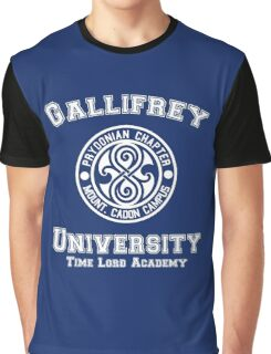 Gallifrey University Time Lord Academy white Graphic T-Shirt