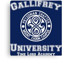 Gallifrey University Time Lord Academy white Canvas Print