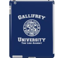 Gallifrey University Time Lord Academy white iPad Case/Skin