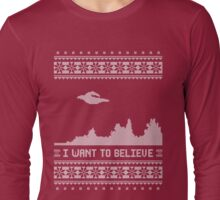The X-Files Holiday Sweater Long Sleeve T-Shirt