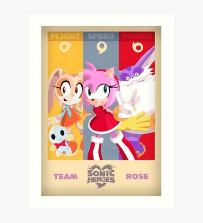 Team Rose - Sonic the Hedgehog Art Print
