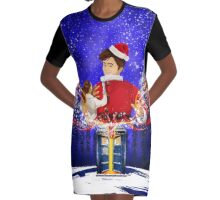 10th Doctor celebrate Christmas Graphic T-Shirt Dress
