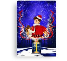 10th Doctor celebrate Christmas Canvas Print
