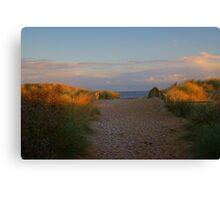 Sunset and Set Sand......!! Canvas Print