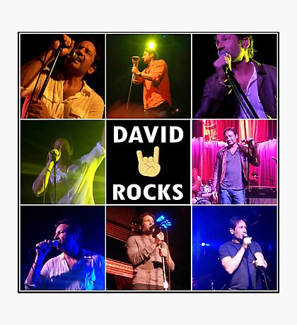 David Duchovny Rocks Photographic Print