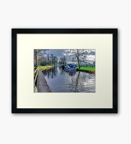 On The Canal Ripon Framed Print