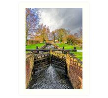 The Lock  Ripon Canal Art Print