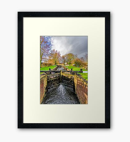 The Lock  Ripon Canal Framed Print