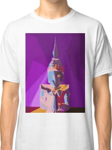 purple blue red and yellow buddhist style abstract background Classic T-Shirt