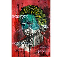 pop art Beethoven abstract ink painting  Photographic Print