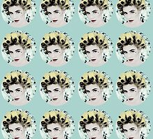 Marina Diamandis Pattern - Turquoise by aconits
