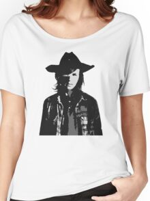 The Walking Dead - Carl Grimes Profile Women's Relaxed Fit T-Shirt