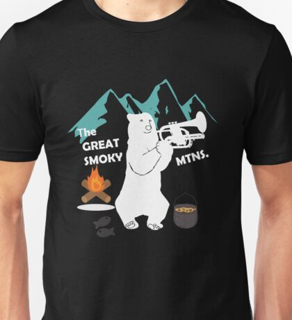 The Great Smoky Mountains Smokey Bluegrass Bear white Unisex T-Shirt