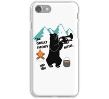 The Great Smoky Mountains Smokey Bluegrass Bear black iPhone Case/Skin
