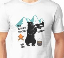 The Great Smoky Mountains Smokey Bluegrass Bear black Unisex T-Shirt