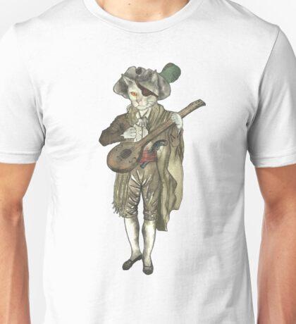 Pirate Musician Cat  Unisex T-Shirt