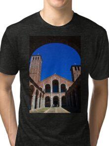 Italy. Milan. Basilica of Sant'Ambrogio. Tri-blend T-Shirt