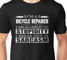 Bicycle - Repairer I Am Allergic To Stupidity Unisex T-Shirt