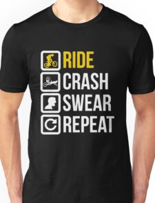 Bicycle - Ride Crash Swear Repeat Unisex T-Shirt