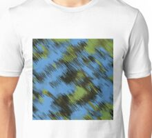green blue and black painting texture abstract background Unisex T-Shirt