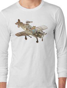 Flying Cat Long Sleeve T-Shirt