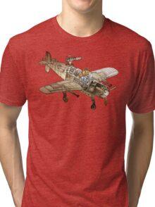 Flying Cat Tri-blend T-Shirt