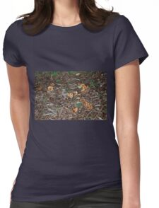 Mushrooms and Bark Womens Fitted T-Shirt
