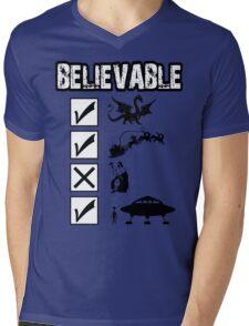 Funny atheist Mens V-Neck T-Shirt